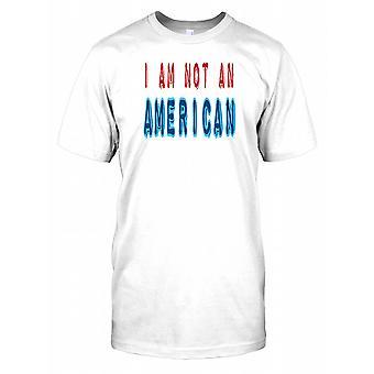 Jeg er ikke en amerikansk - citerer sjove Herre T-shirt