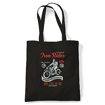 Iron rider.  Motorcycle Off road Trick Bike -  Tote - Gift