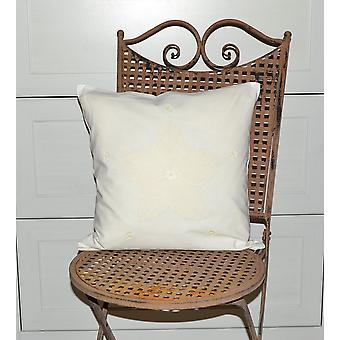 Hossner romantic Cushion cover shabby vintage cream country home crochet 40 x 40 cm