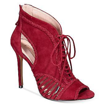 Avec Les Filles Womens Joyce Leather Peep Toe Classic Pumps