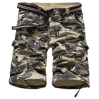 Allthemen heren korte broek katoen camouflage casual zomer korte broek