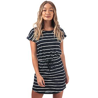 Womens Only May Stripe Dress In Night Sky / Cloud Dancer