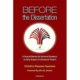 Before the Dissertation - A Textual Mentor for Doctoral Students at Ea