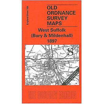 West Suffolk (Bury and Mildenhall) 1897 - One Inch Map 189 (facsim of