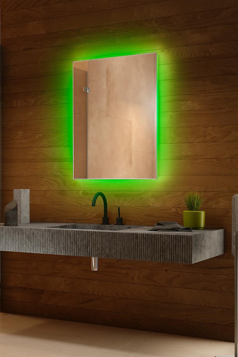 RGB audio rétroéclairé Mirrorr avec capteur, demister, rasoir k707BLrgb
