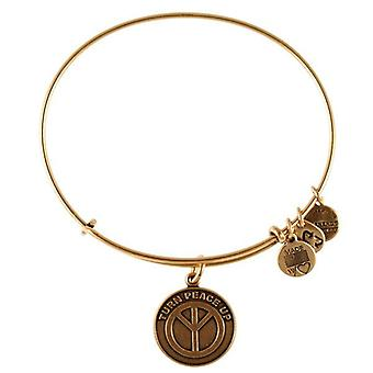 Alex and Ani Turn Peace Up Gold Bangle A12EB11RG