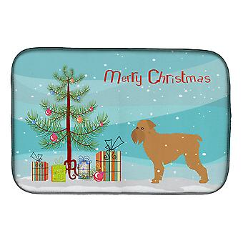 Griffon Bruxelles Merry Christmas Tree plat Mat de séchage