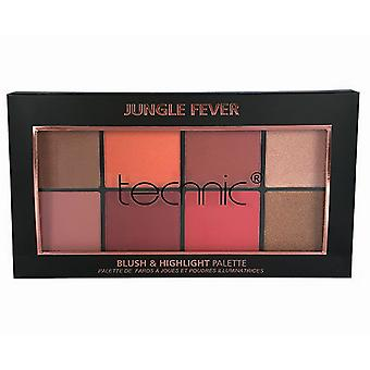 Technic Blusher & Highlighter Palette Jungle Fever