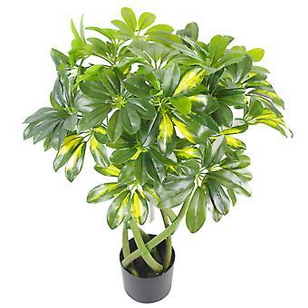 70cm künstliche twisted Stem Gold Capella Arboricola künstliche Pflanze Bonsai Bush