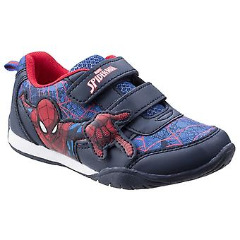 Leomil Childrens Boys Spiderman Web Touch Fastening Trainers