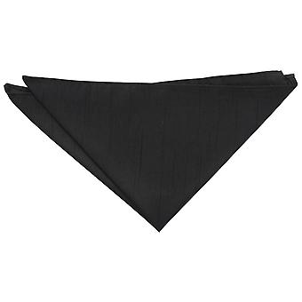Black Plain Shantung Pocket Square