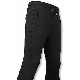 Casual Sweatpants-Braided sweatpants-Black