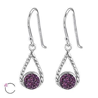 Tår Drop Crystal från Swarovski®-925 sterling silver örhängen-W24401X
