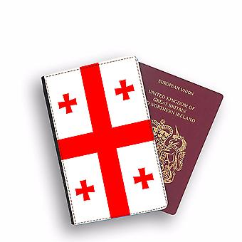 GEORGIA Flag Passport Holder Style Case Cover Protective Wallet Flags design