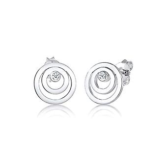 Diamore Silver Women's Stud Earrings 925_silver diamond round 306741517