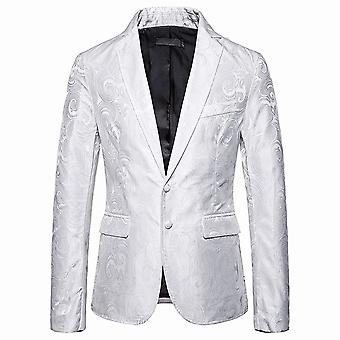 Allthemen Men's Floral Banquet Party Business Casual Suit Jacket 4 Colors
