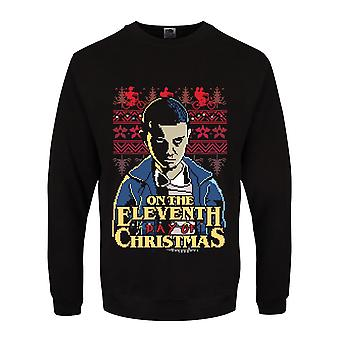 Grindstore Mens On The Eleventh Day Of Christmas Jumper