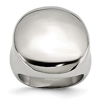 Stainless Steel Engravable Polished Circular Signet Ring Size 5 Jewelry Gifts for Women