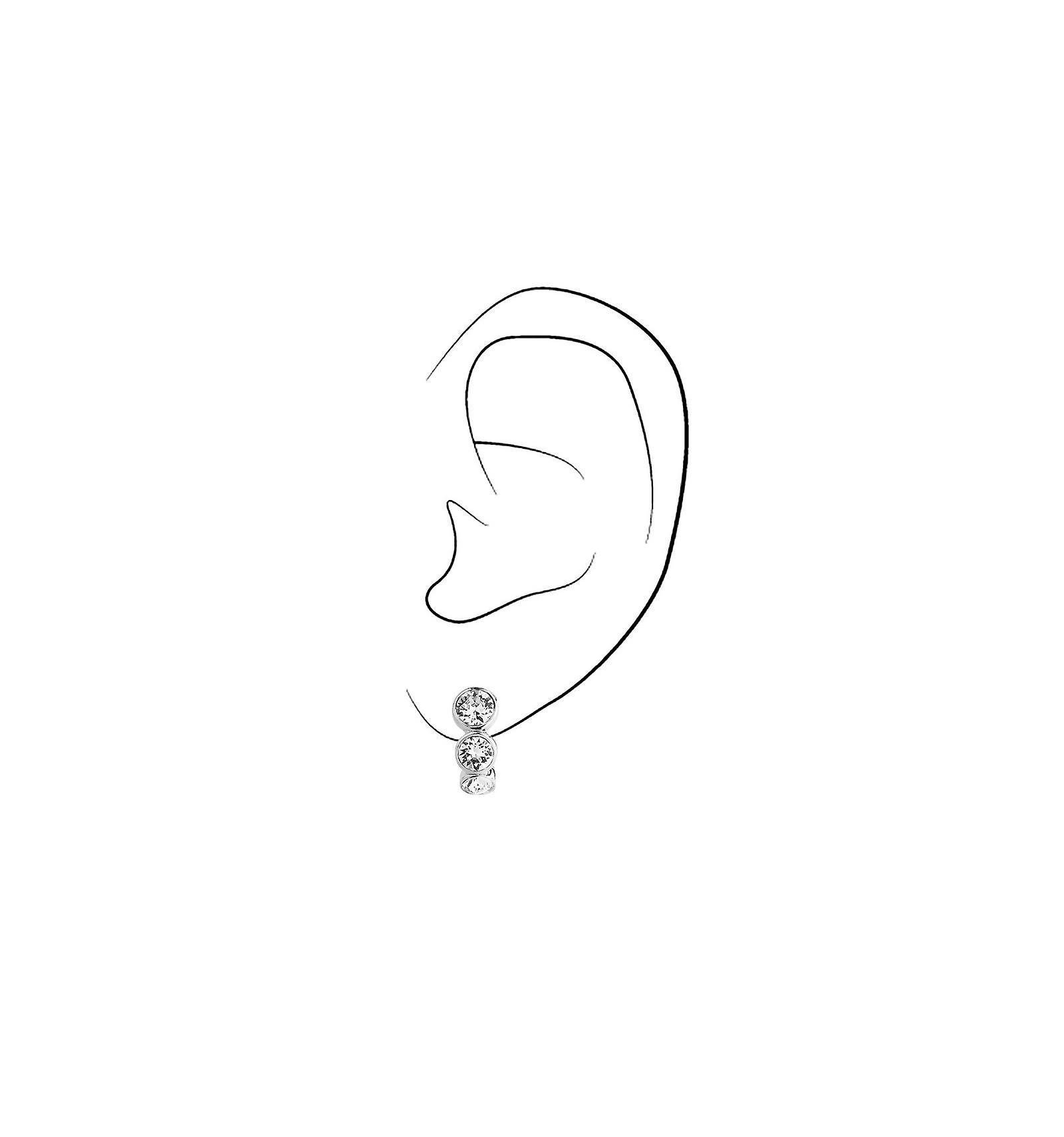 Traveller clip earring - rhodium plated - Swarovski Crystals - 155805