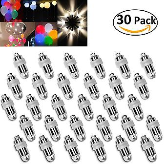 30 LED Balloons Lights Waterproof Lighting for Paper Lanterns Balloons Flower Decoration Non-flashing Warm White