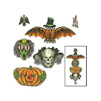 Vintage Halloween Totem napa leikkauksia 6 & quot;-28 & quot;
