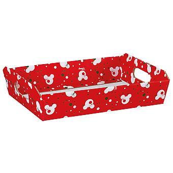 40cm Red Mickey Christmas Cardboard Gift Hamper Tray