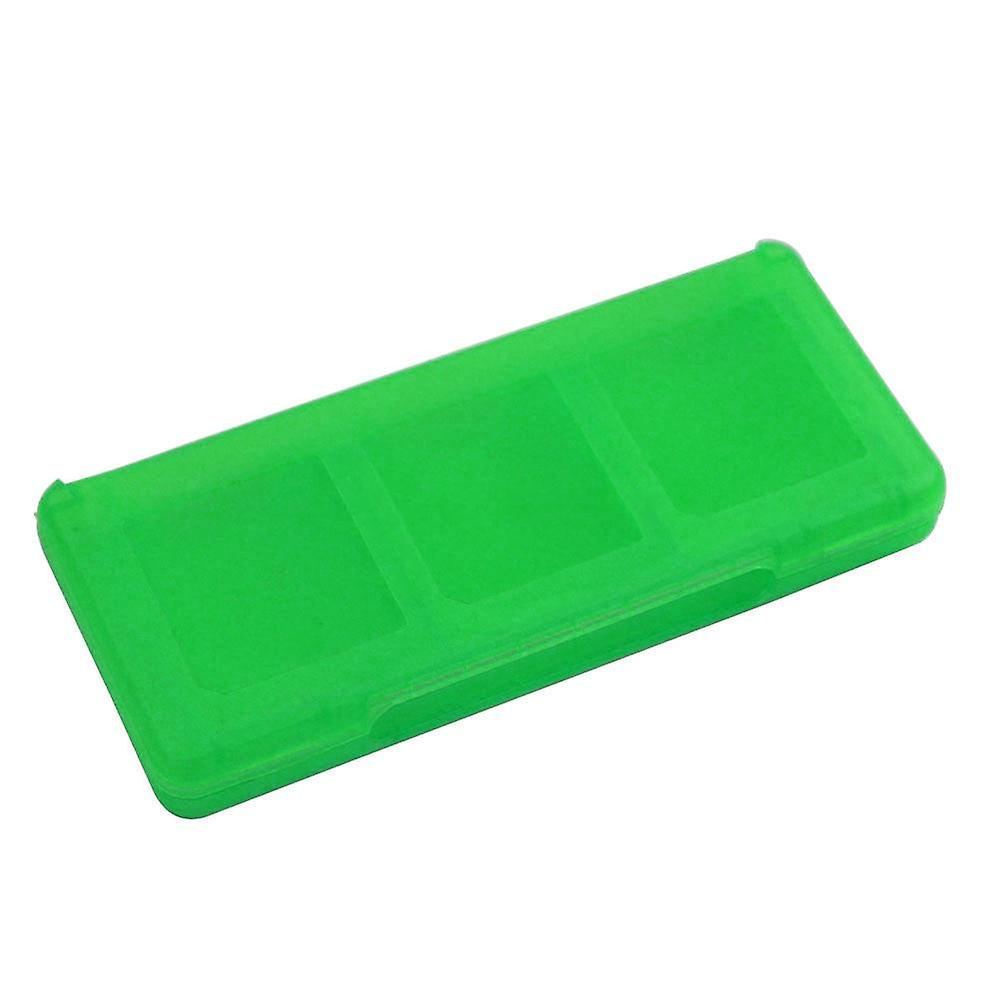 Game case for nintendo 3ds 2ds ds 6 in 1 card holder storage box - green