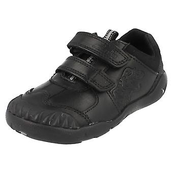 Boys Clarks Infants School Shoes Stompo Kid