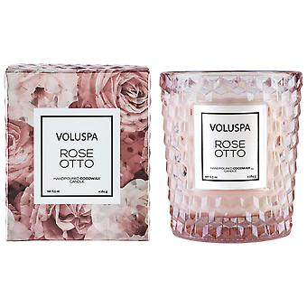 Voluspa Rosen Boxed strukturierte Glas Kerze Rose Otto 184g
