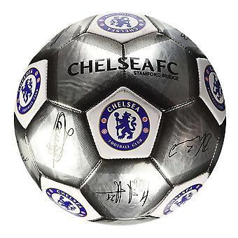 Chelsea FC Silver Signature Football