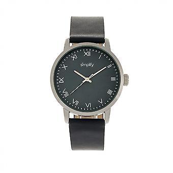 Vereinfachen Sie die 4200 Leder-Band Uhr - Navy