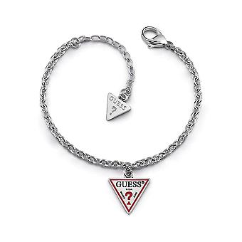 Guess Jewellery Small Chain Logo Acelet Silver Bracelet UBB29061-L