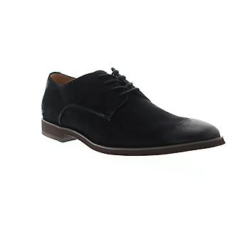 Steve Madden  Mens Black Suede Casual Lace Up Oxfords Shoes