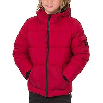 Animal Boys Gus Long Sleeve Waterproof Zip Up Hooded Puffer Jacket Coat - Red