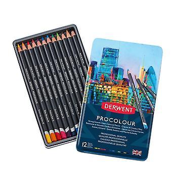 Derwent Procolour Professional Quality Colour Pencil 12 Tin