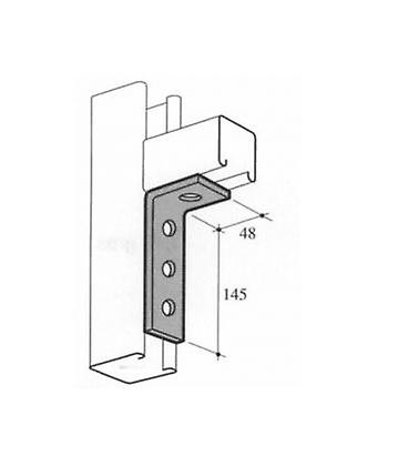 M10 4 Hole Angle Plate (1474) For Channels T304 Stainless Steel (as Unistrut / Oglaend)