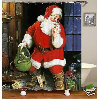 Vintage Santa Shower gardin