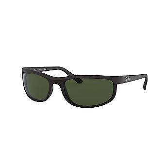 راي بان RB2027 W1847 أسود ماتي أسود / كريستال النظارات الشمسية الخضراء