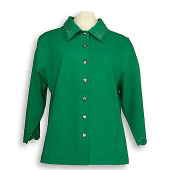 Quacker Factory Women's DreamJeannes Smile N' Style Green A263559