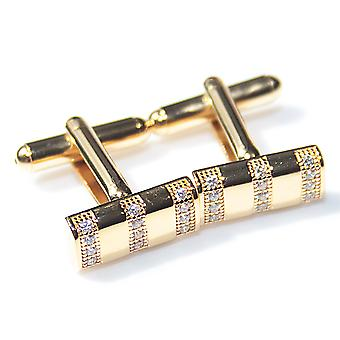 Ah! Jewellery Men's Gold Filled 3 Row Bar Cufflinks, Stamped GL