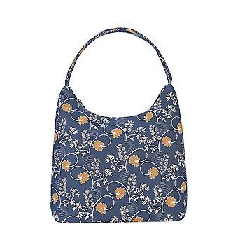 Jane austen blue shoulder hobo bag by signare tapestry / hobo-aust