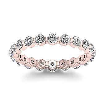 Igi certifierade 1,50 ct runda snitt diamant kvinnor & apos; evighet band i 14k steg guld