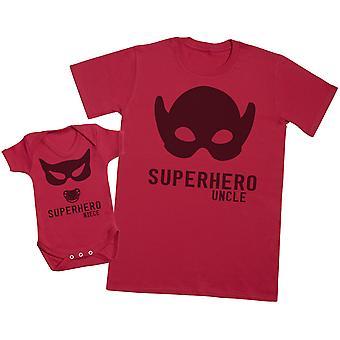 Superhero Niece - Uncle T Shirt & Baby Bodysuit