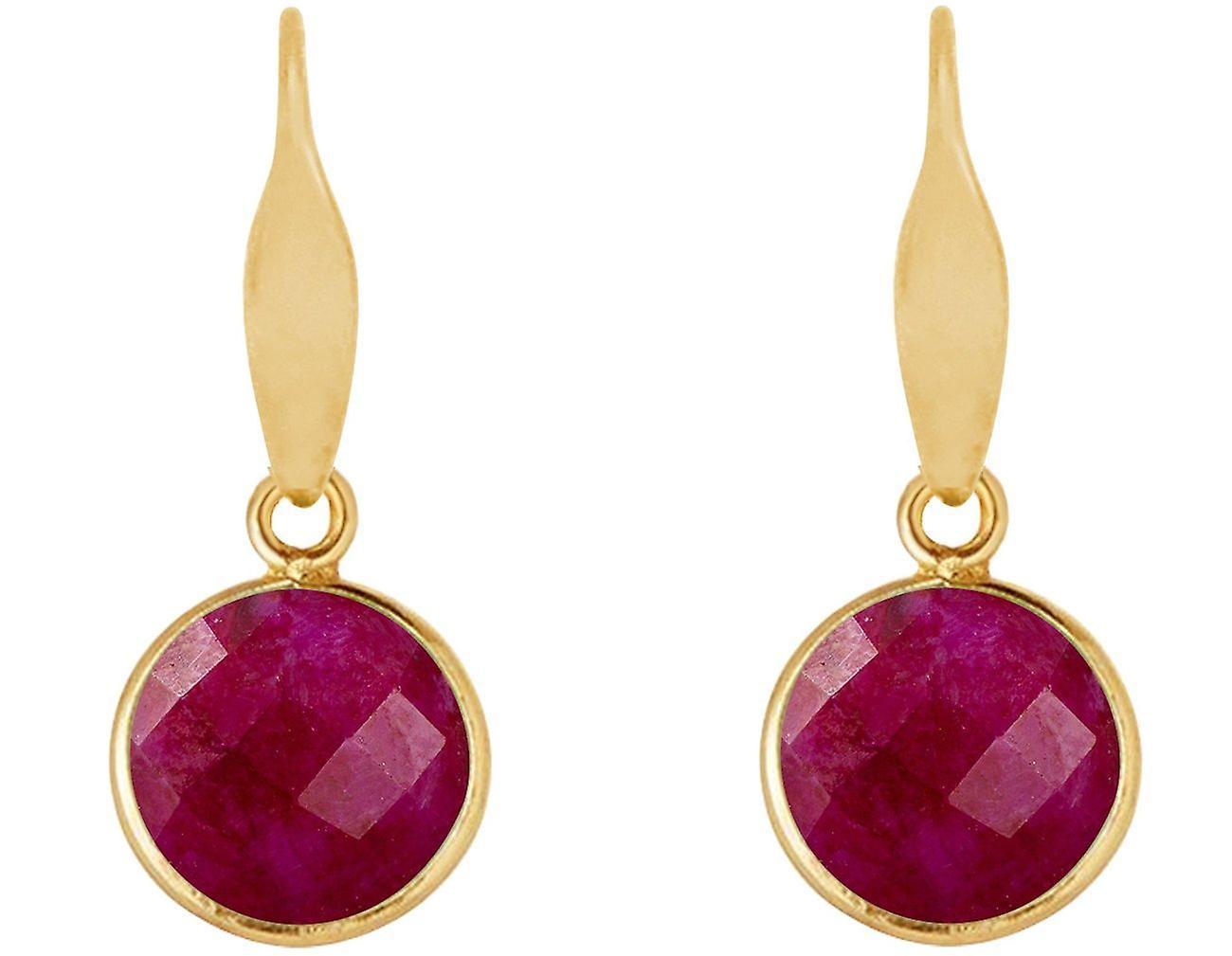 Gemshine Ohrringe rote Rubinen Edelstein Tropfen 925 Silber, vergoldet oder rose