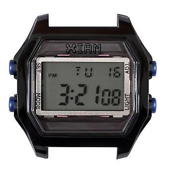 Watch I Am The Watch IAM-118 - Bo tier Aspect M tal Black Blue Buttons / Horn Gap 20 mm