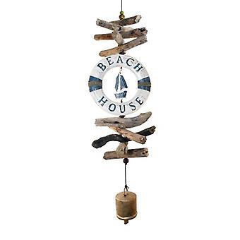 Blue & White Life Ring Sailboat Cohasset Bell