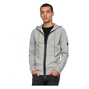 Replay Jeans Replay Hooded Sweatshirt Grey Marl