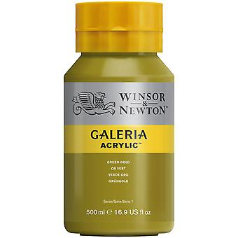 Winsor et Newton Galeria Acrylic Paint 500ml - Vert Or