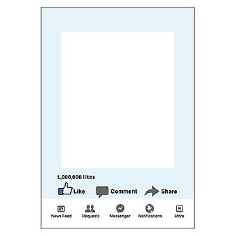 Facebook Social Media Party Props Photo Booth Selfie Frame