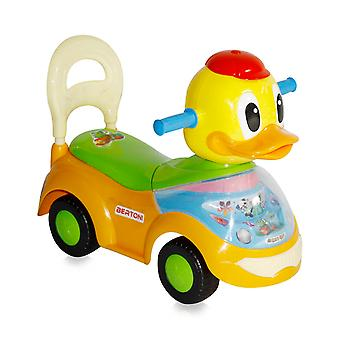 Lorelli slider, children's car duck with music function, backrest, from 18 months
